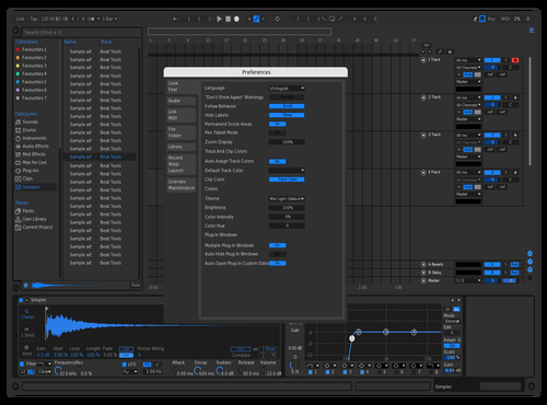 Dark+Blue Theme for Ableton 10 by Morko