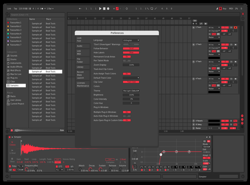 Flat Red Theme for Ableton 10 by karoshi