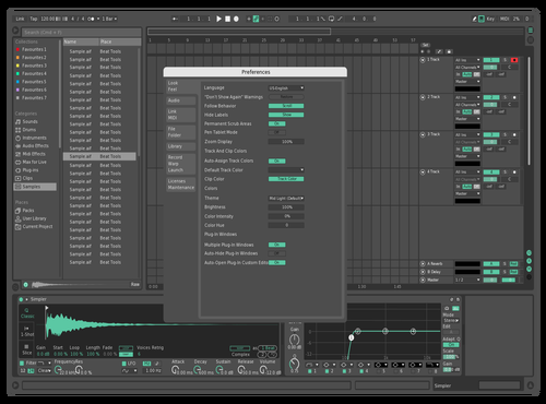 Ocean green Theme for Ableton 10 by anxto