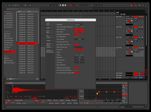 Dark TRK Theme Theme for Ableton 10 by Marian