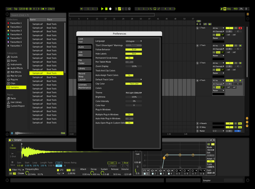 Green/yellow themedark Theme for Ableton 10 by Elias