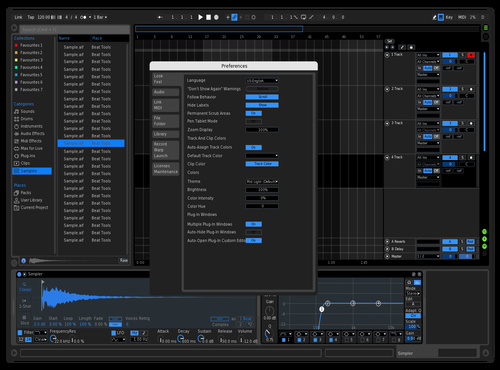 Blue on black Theme for Ableton 10 by Flynn BOundy