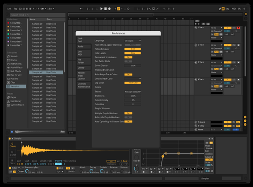 Darker Theme for Ableton 10 by Chris Micali