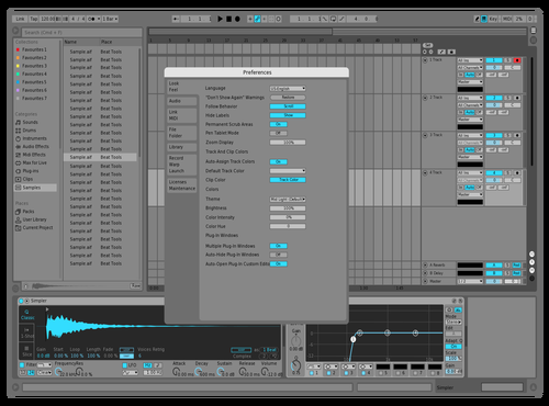 Blue Theme Theme for Ableton 10 by Emanuil