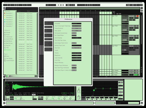 LIME CREAM Theme for Ableton 10 by SDS GOD MUSIC