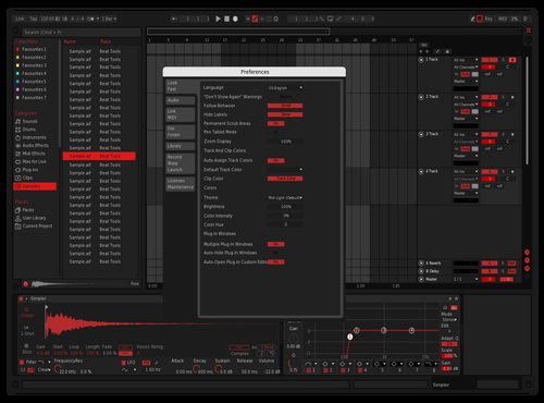 Red Nice Theme for Ableton 10 by LUIZ PAULO DAMIAO