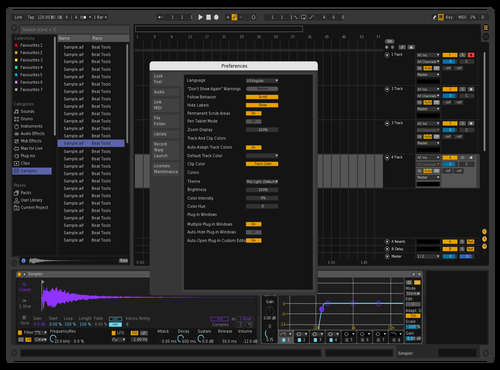 Simply Purple Theme for Ableton 10 by FDaniel Escalante