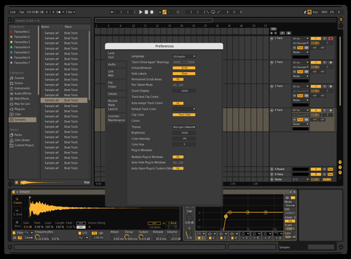 Black and Yellow Theme for Ableton 10 by I