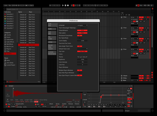P5 scarlet Theme for Ableton 10 by paarabola
