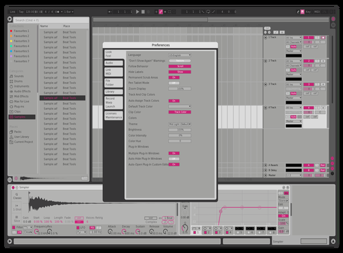 Geldmacher Pink Theme for Ableton 10 by Ian Moneymaker