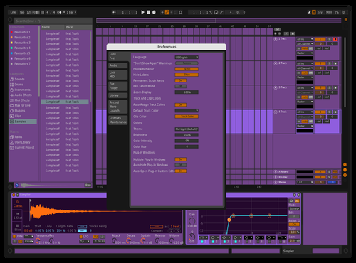 Complimentary Theme for Ableton 10 by Keegan O'Connor