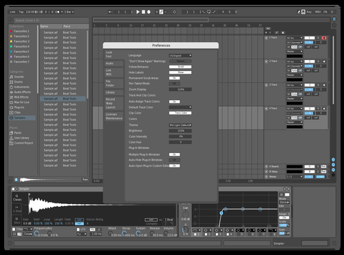 Julian Goldsmith ice Theme for Ableton 10 by Julian Goldsmith