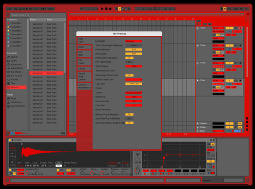 Redish Theme for Ableton 10 by Jowan