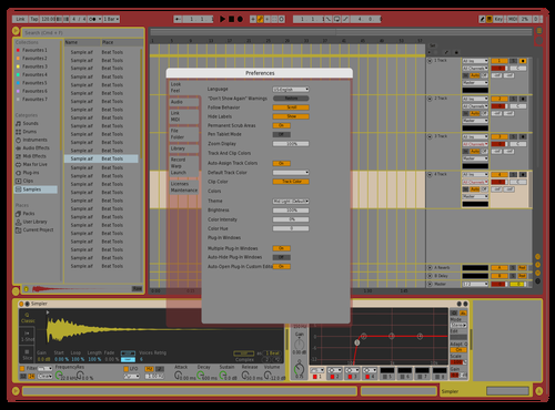 Arkitekchure Theme for Ableton 10 by Keith Meldrum