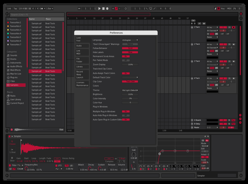 RubyRed Theme for Ableton 10 by Sage