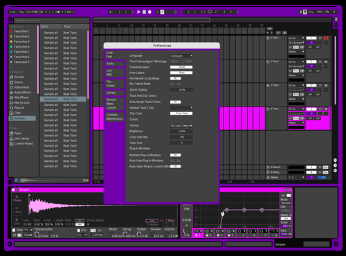 Plush Theme for Ableton 10 by Dylan DiGiovanni