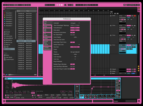 Pink'n'Blue Theme for Ableton 10 by Loukas