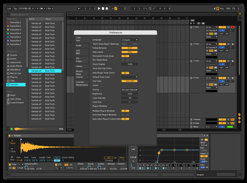 Black contrast es Theme for Ableton 10 by Eric Straube