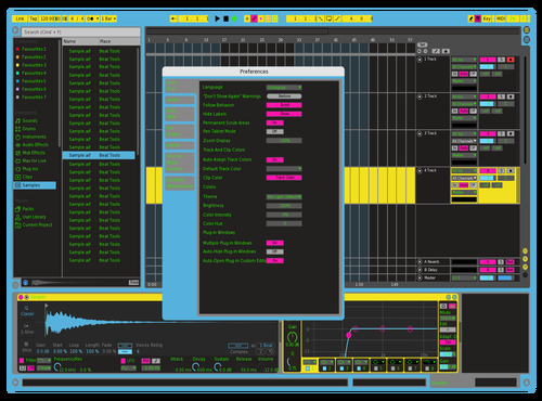 KLD_80'FLUO Theme for Ableton 10 by Karl lenglin