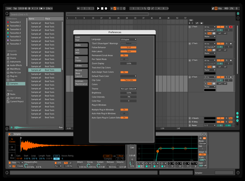 Middark_orange Theme for Ableton 10 by Maximilian Döttl