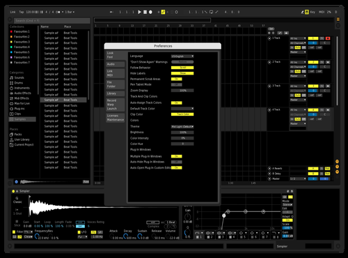 Always black Theme for Ableton 10 by tiescout