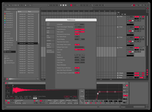 BPM Sounds Skin - Medium Theme for Ableton 10 by Matthew Beck