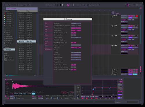 Bd - neon translucent pearl violet Theme for Ableton 10 by Boris Riccardo D'Agostino