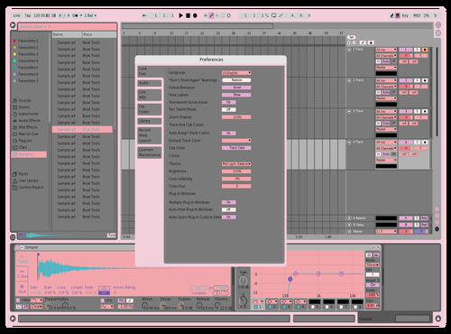 Cute Theme for Ableton 10 by dvll