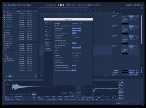 NavyMod1 Theme for Ableton 10 by Zachary Zinck