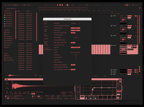 NEON RED Theme for Ableton 10 by gab dar
