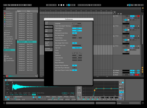 MidTheme BlueGreen Theme for Ableton 10 by Kumo