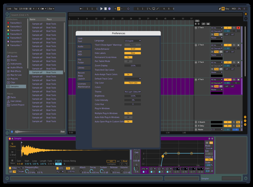 Purpie Theme for Ableton 10 by Ben