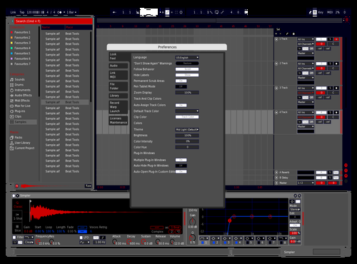 RedBlueBlack Theme for Ableton 10 by fatumchris