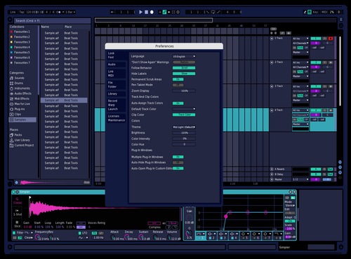 Midnightvisible without yellow Theme for Ableton 10 by Robert van den Broek