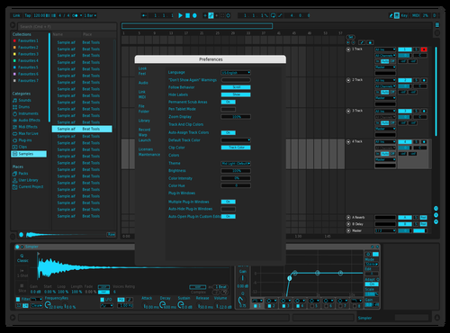 Deep Dark Teal Theme for Ableton 10 by Hunter White