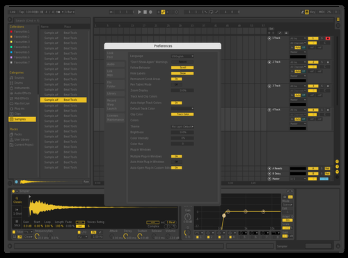 Yello Remix Theme for Ableton 10 by VesezziProduction
