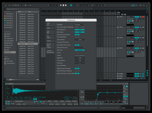 BLUE/GREEN Theme for Ableton 10 by Drumzee