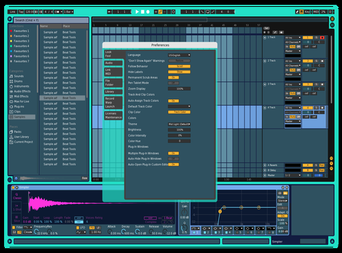 Blu Theme for Ableton 10 by Erlik