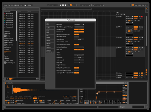 Oreng plus Theme for Ableton 10 by Ruslan