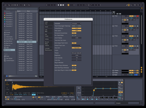 Dark Blue Gray Theme for Ableton 10 by zemm