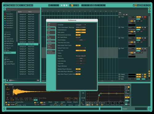 Absynth skin Theme for Ableton 10 by diefex