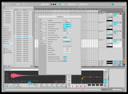 Light (modified) Theme for Ableton 10 by Michael