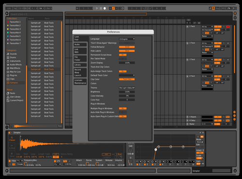 Lighter Theme for Ableton 10 by Bear