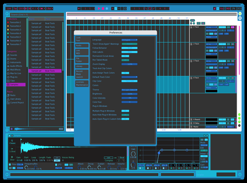 NEON ICED Theme for Ableton 10 by feloteo