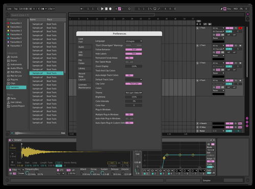 Pinky Teal Theme for Ableton 10 by AxtSin