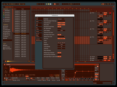 RED Dark Theme for Ableton 10 by mrnix