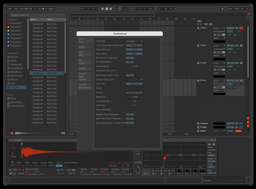 Dark night Theme for Ableton 10 by fred