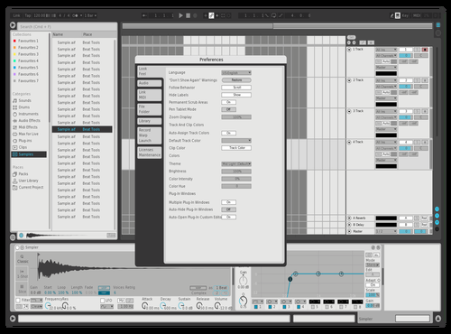 Bright & Easy Theme for Ableton 10 by Hank
