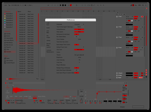 RED 2 Theme for Ableton 10 by jorge miguel