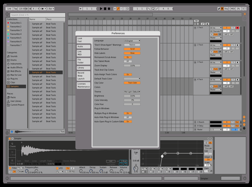 Blue tint Theme for Ableton 10 by Ben